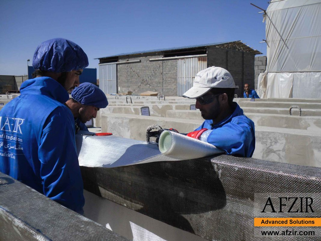 cooling tower strengthening with FRP
