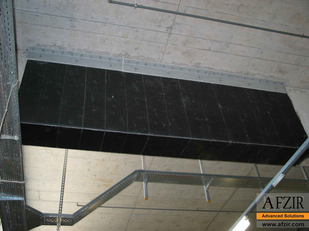 FRP strengthening of a concrete beam