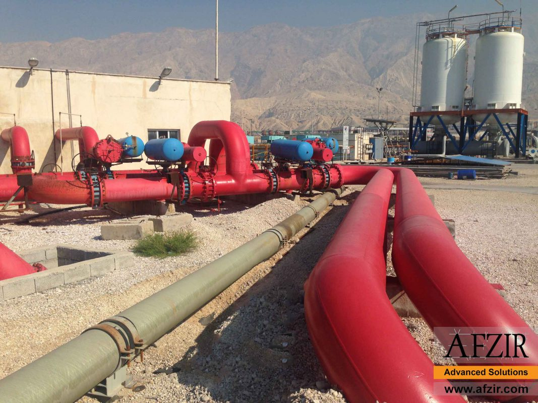 Use of composite pipes in petrochemicals