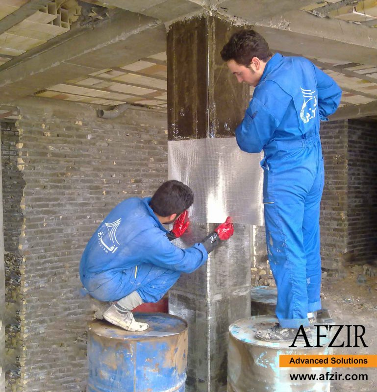 Column strengthening with FRP