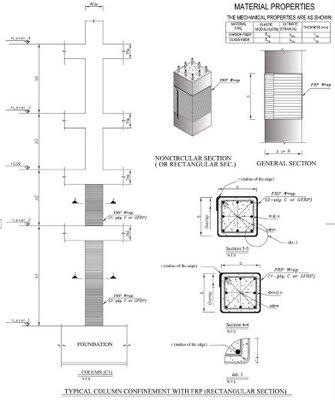 جزئیات تیپ مقاوم سازی ستون بتنی با FRP