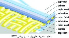 سطح مقطع بافتهای پلی استر با روکش PVC