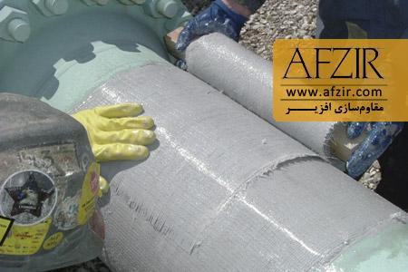 مقاومسازی لولههای مدفون با FRP