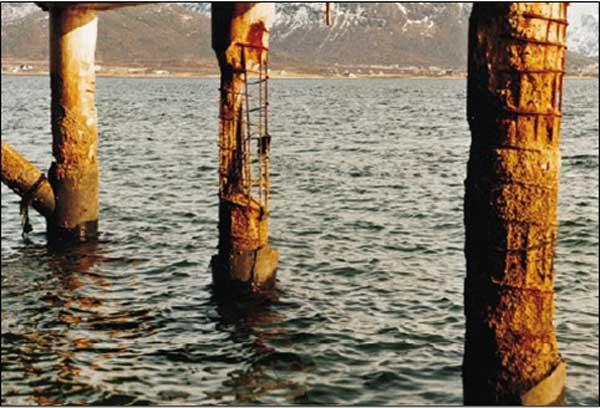 خوردگی در سازه دریایی بتنی