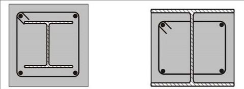 تقویت و بهسازی ستون فولادی با ژاکت بتنی - مقاوم سازی ساختمان