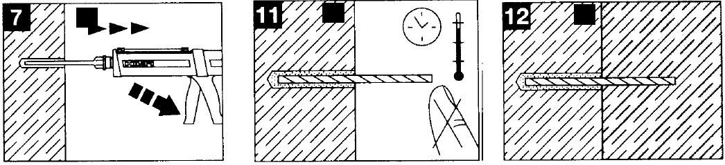 نمونه ای از تزریق رزین در روش کاشت میلگرد