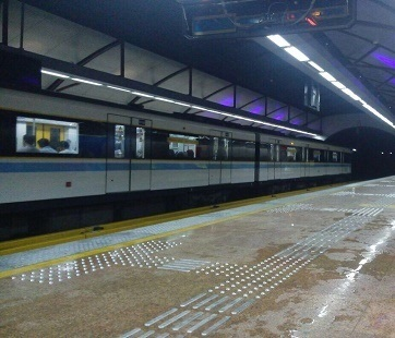 نشت در ایستگاه مترو