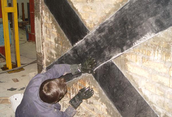 مقاوم سازی دیوار خشتی با الیاف FRP