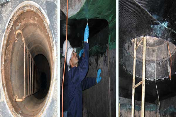 Reinforcing manholes with FRP