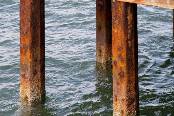 corrosion in waterfront structures