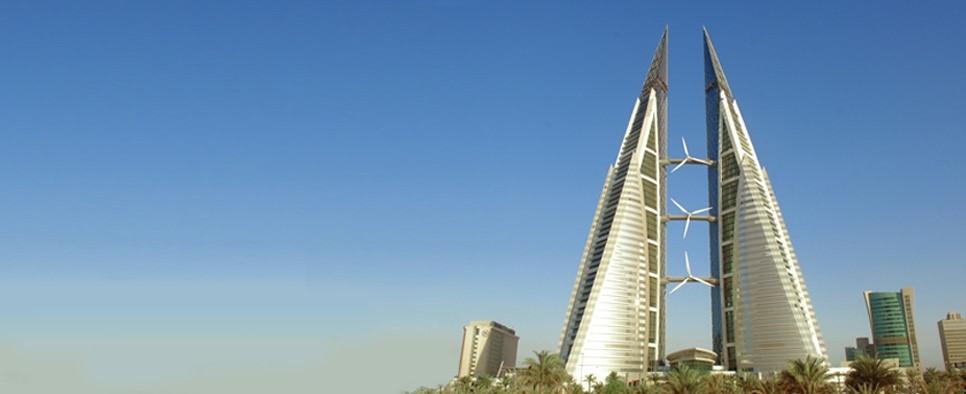 نصب سه توربین در برجهای مرکز تجارت جهانی در بحرین
